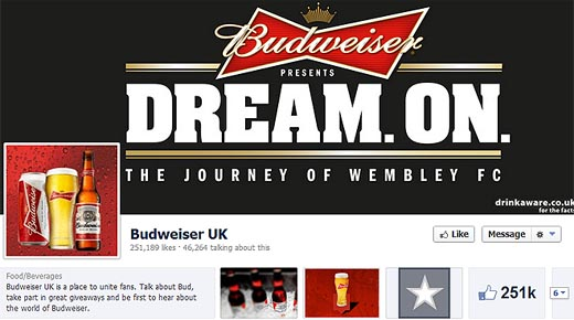budweiserfacebook520 English football match to be broadcast simultaneously on Facebook and TV