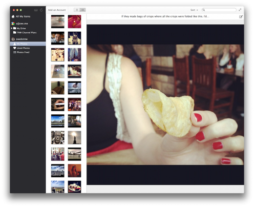 collections me 2 520x424 Y Combinator backed Collections syncs Facebook photos, Instagram and Google Docs in one Mac app