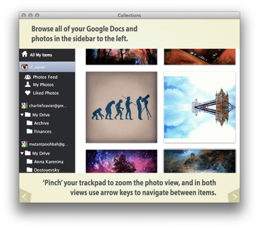 collections me tutorial 520x460 Y Combinator backed Collections syncs Facebook photos, Instagram and Google Docs in one Mac app