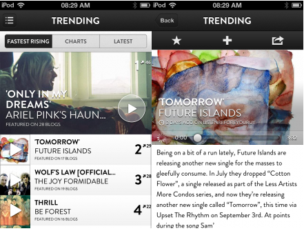 d2 TNW Pick of the Day: Shuffler.fm takes its Flipboard for music discovery app to the iPhone