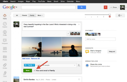 email checkbox 520x336 Google rolls out more controls for Google+ Circles, to cut out the noise in your stream