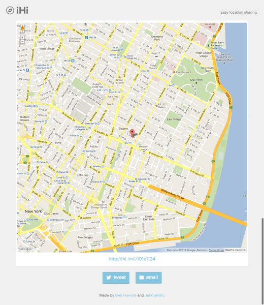 iHi.im Easy location sharing 520x600 iHi: A curious little Web app for sharing your location with friends