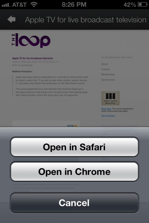 image 520x780 The Google+ app for iOS opens web URLs in Chrome if installed, how soon until all Google apps do that?