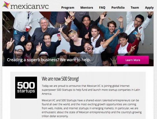 mexican.vc homepage 500 520x395 TNW interviews César Salazar as Mexican.VC joins 500 Startups
