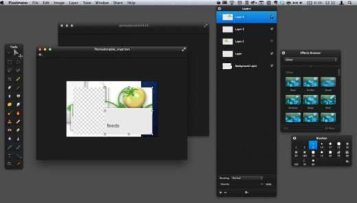pixelmatorui21 520x297 Pixelmator 2.1 updated for Retina, adds iCloud support and new effects