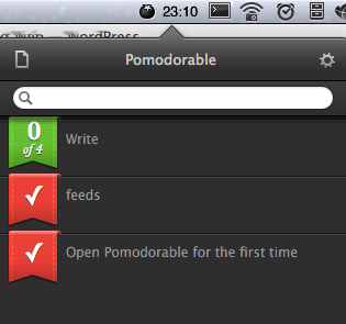 pomodorolist3434 Pomodorable for Mac puts a timer in your menu bar for a stylish productivity boost
