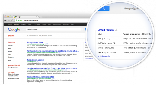 ss22 0bfm5w 520x285 Gmail emails to appear in Google search results in exclusive field trial