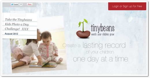 tinybeans1 520x273 Tinybeans is a digital journal dedicated to photos of your child