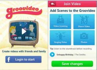 v31 Groovideo: This app helps you collaborate with friends to create videos for special occasions