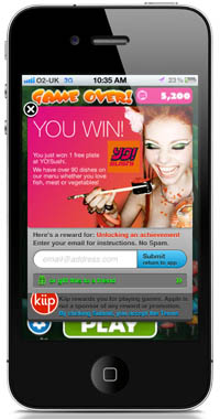 yokiip200 Kiip makes its debut in London with the launch of YO! Sushi rewards