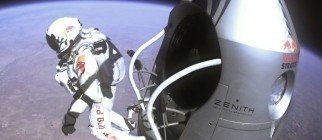 Red Bull Stratos Attempts Record Freefall Jump