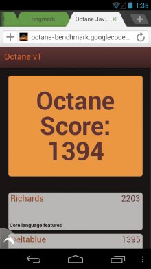Dolphin Octane Benchmark 220x391 Dolphin reaches 50m users, launches new Jetpack addon to supercharge its Android browser
