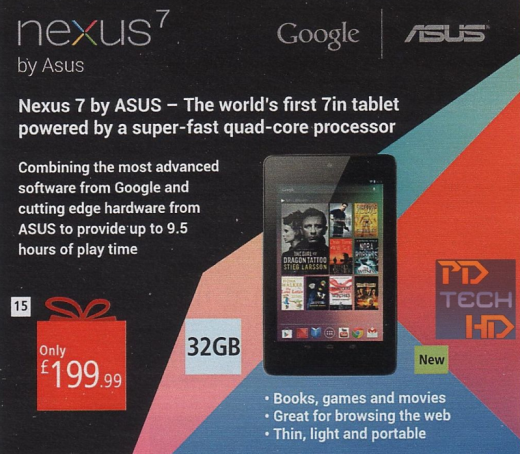Screen Shot 2012 10 17 at 10.56.51 520x454 UK retailer Argos confirms Google to offer 32GB Nexus 7, available for £199.99