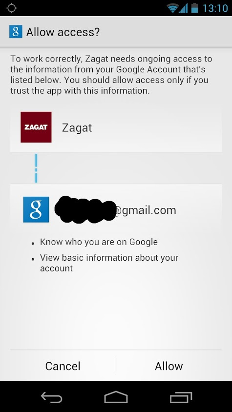 Zagat App7 Zagat rebuilds its Android app, adds a Google+ account requirement