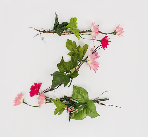 anne lee z1 Typographic inspiration: Creating a font from flowers
