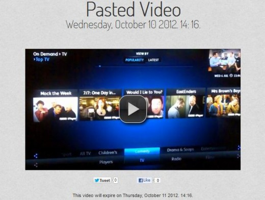 c6 520x392 TNW Pick of the Day: VideoPaste lets you upload and share videos for 24 hours only