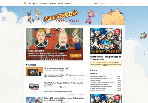 crunchyroll brazil 520x364 Crunchyroll rolls out in Brazil to reach one of the worlds largest anime fan bases