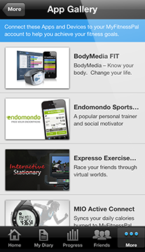 ios5 app gallery.png With 30 million users, MyFitnessPal launches a new API to integrate with Fitbit, Runtastic and more