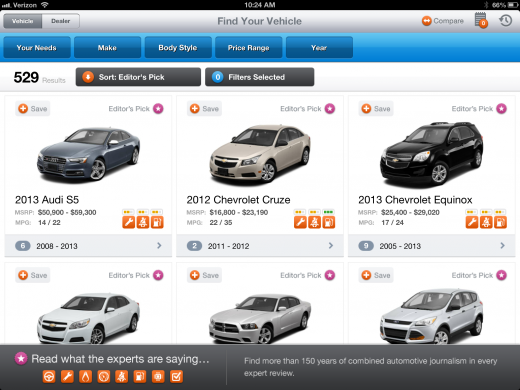 photo 15 520x390 ShopAutoWeeks feature packed iPad app is car buying research done right