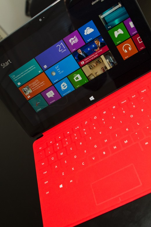 red 520x780 Hands on with Microsoft's Surface RT, a worthy tablet with a quirky operating system