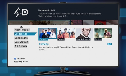 youview tv 520x312 YouView design. How Channel 4s portal required some new ways of thinking around TV