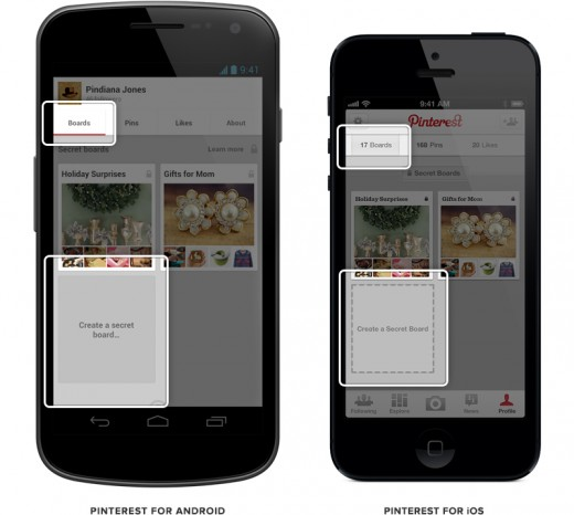 2012110804 520x466 Pinterest launches secret boards on Web, Android and iOS, apps get board editing and user blocking