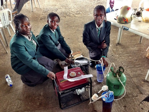 8161674482 6afa443513 c 520x390 Forget apps and useless startups: These four African girls have created a pee powered generator