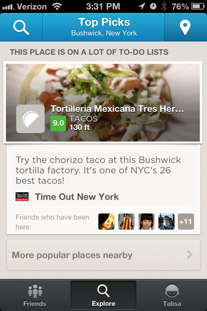 Explore Rating Foursquare now gives 1 10 ratings for locations on the web and in iOS app, becomes Yelp competitor