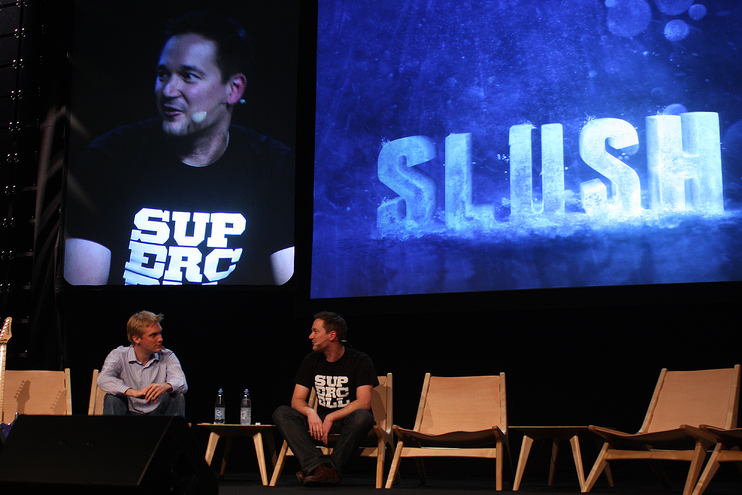 Kristian Segerstrale of Glu Playfish EA talks to Ilkka Paanenen of Supercell March of the Angry Birds. How Rovio is teaching Finnish startups to think big