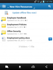 Saving folders for offline use 220x293 Box updates its Android app, now with previewing, offline access, and more power for road warriors