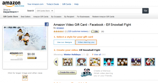 Screenshot 12 520x273 Amazon partners with JibJab to launch Video Gift Cards