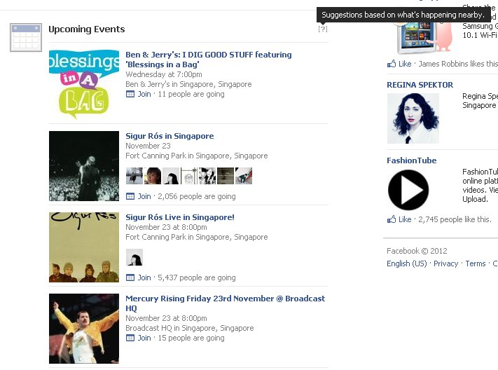UpcomingEventsNewsFeed Facebook confirms it is testing Upcoming Events and Recently Released Albums in the News Feed