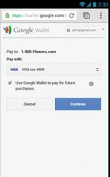 b 220x354 Three clicks: Google Wallet integrates with merchants mobile sites to speed up the check out process