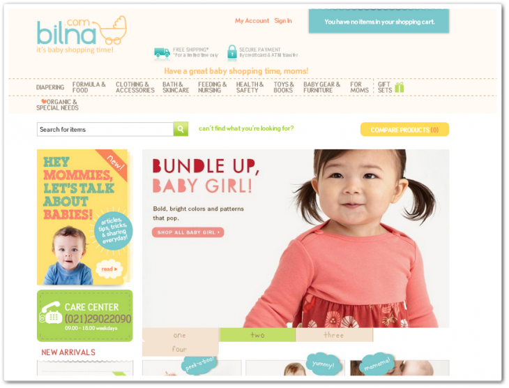 bilna 730x556 Japans CyberAgent invests in Indonesian baby e tailer Bilna, started by Groupon Disdus founder