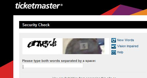 c CAPTCHA conundrums: Buying tickets online for in demand shows is a farce and must be fixed