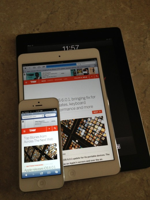 First impressions with the iPad mini