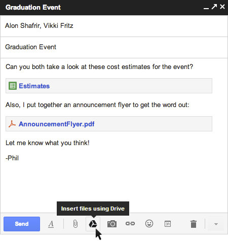 drive1 Gmail now lets you insert up to 10GB of Google Drive files directly into an email