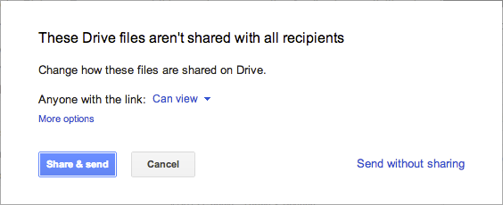 drive2 Gmail now lets you insert up to 10GB of Google Drive files directly into an email