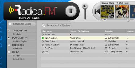 e6 520x264 Radical.FM enters public beta to challenge Spotify et al with donation based business model