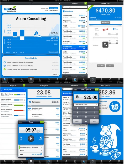 freshbooks ipad screenshots 520x688 FreshBook releases its iPad app to help 5 million businesses manage their accounting from anywhere