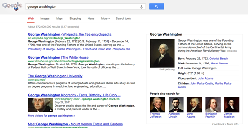 george washington Your desktop Google Search results are about to get a whole lot cleaner and simpler