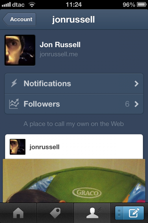 image 3 520x780 Tumblr goes native on iOS with redesigned app featuring new dashboard, notifications and more