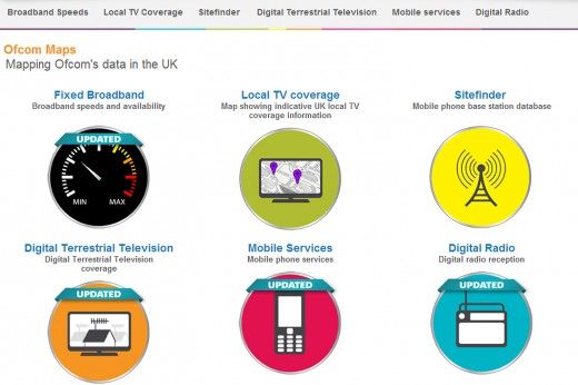 ofcom maps 520x346 UK mobile data consumption more than doubles as fixed broadband speeds hit 12.7Mbps says Ofcom