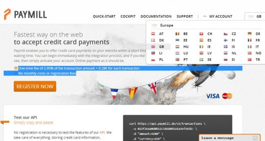 paymill 520x278 Paymill, Rocket Internets Stripe clone, goes live in 29 new markets across Europe (Updated)