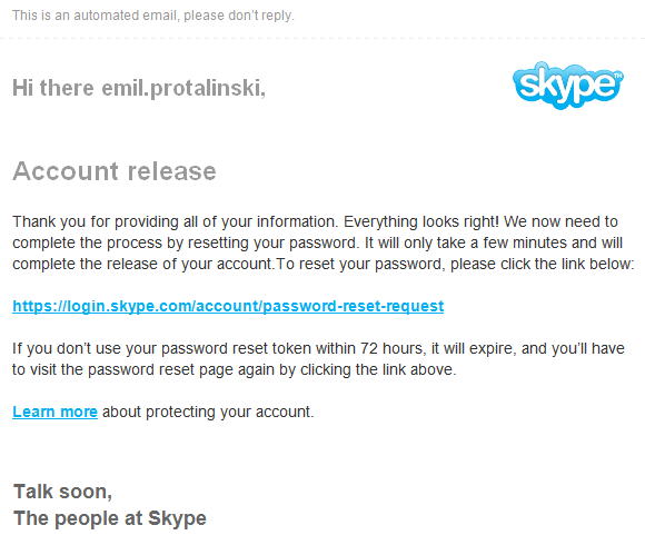 skype released Skype suspends accounts hijacked via security hole, quickly releases any that prove their identity