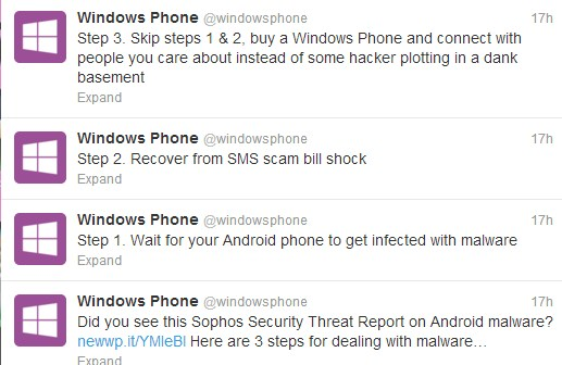 2012 12 05 10h55 42 Microsoft attempts Android backstab on Twitter, fails to do much but look foolish