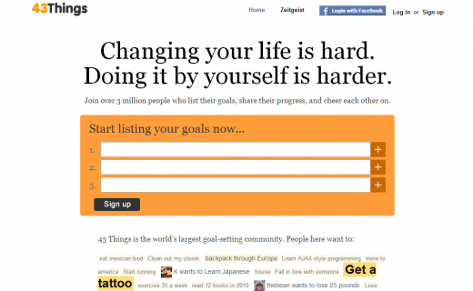 43Things 520x320 20 apps to help you keep your New Year resolutions