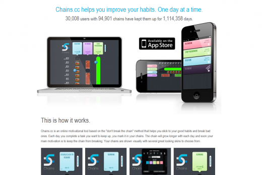Chains1 520x347 20 apps to help you keep your New Year resolutions