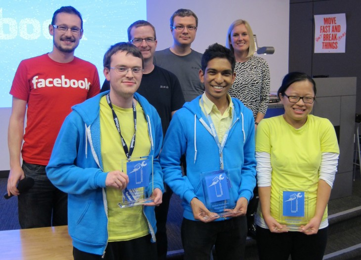 Facebook University Hackathon Winners 730x527 At Facebooks College Hackathon, Waterloo beats 17 other teams with its social version of Siri