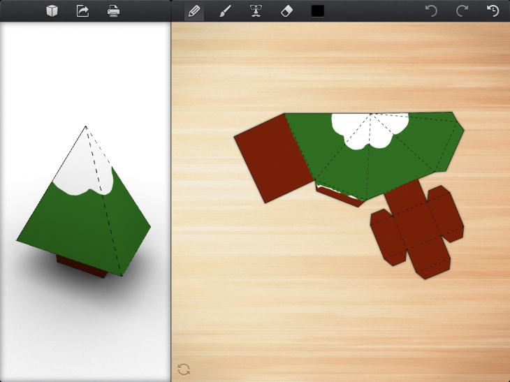 IMG 0029 730x547 Foldify glues together Papercraft, the iPad and AirPrint to create a rare and delightful experience
